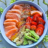 "Idée repas ""original & light"" #1:  Mes Poke Bowl saumon, thon & cabillaud"